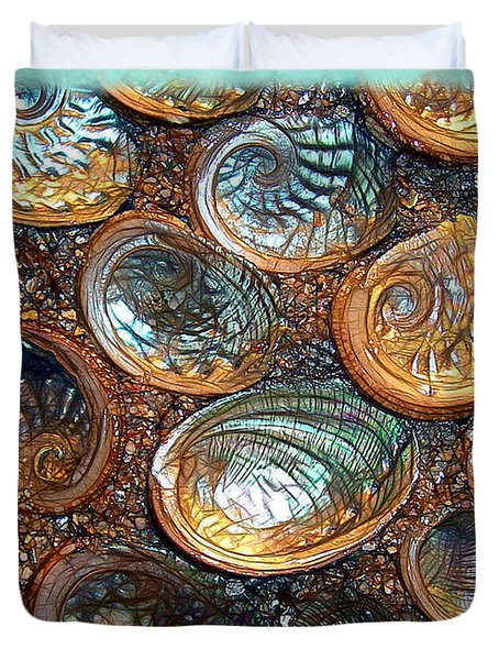 Abalones Duvet Cover by Judi Bagwell