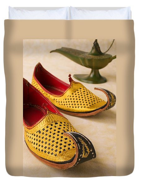 Abarian Shoes Duvet Cover by Garry Gay