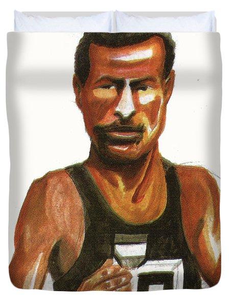 Abebe Bikila Duvet Cover by Emmanuel Baliyanga