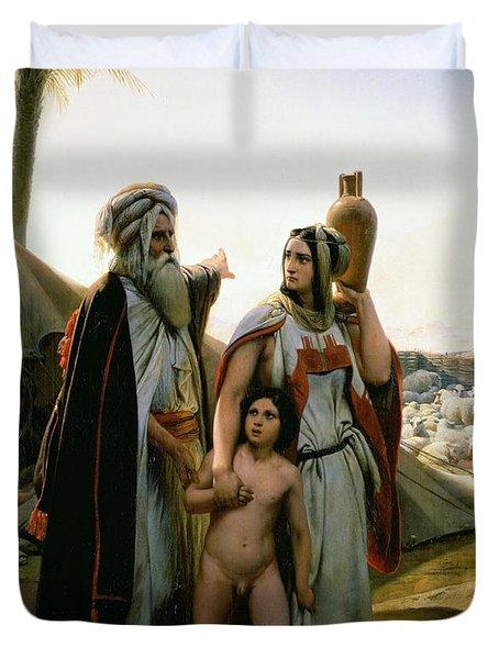 Abraham Turning Away Hagar Duvet Cover by Emile Jean Horace Vernet