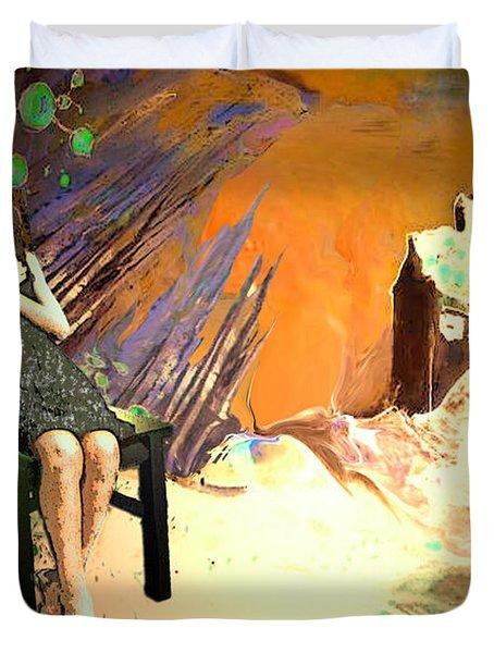 Absent Love Duvet Cover by Miki De Goodaboom