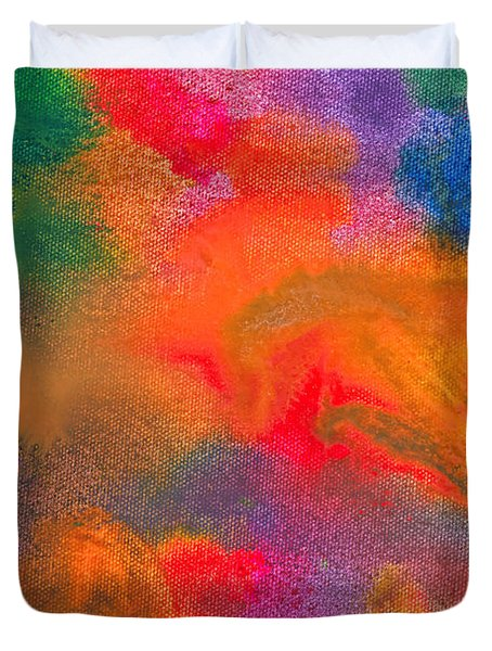 Abstract - Crayon - Melody Duvet Cover by Mike Savad