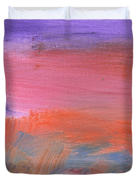 Abstract - Guash - Lovely Meadows 2 Of 2 Duvet Cover by Mike Savad