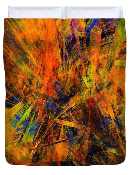 Abstract 100611 Duvet Cover by David Lane