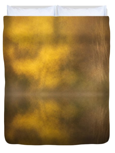 Abstract Birch Reflections Duvet Cover by Andy Astbury
