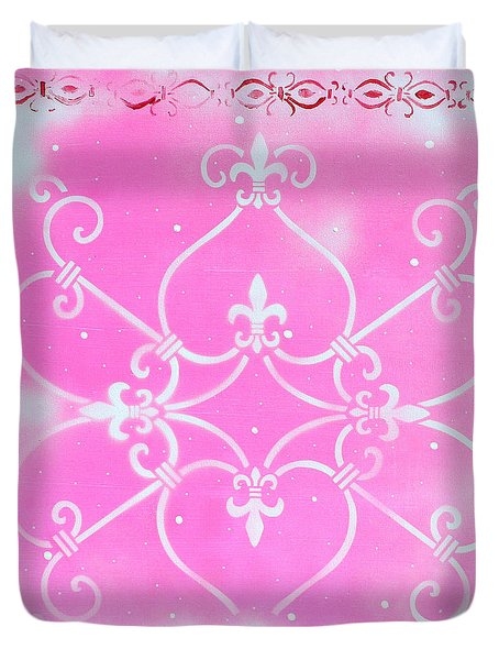 Abstract Decorative Art Original Painting Pink Fantasy By Madart Duvet Cover by Megan Duncanson