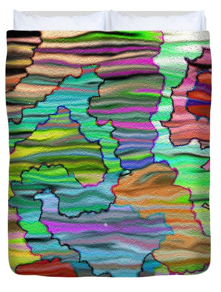 Abstract Emotions Duvet Cover by Gina Lee Manley