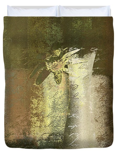 Abstract Floral 04v2g Duvet Cover by Variance Collections