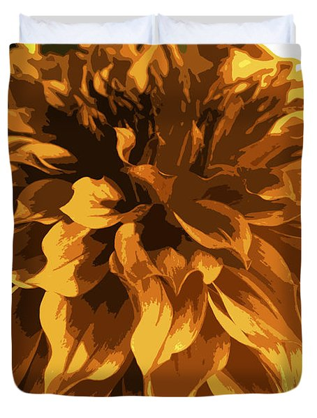 Abstract Flowers 14 Duvet Cover by Sumit Mehndiratta
