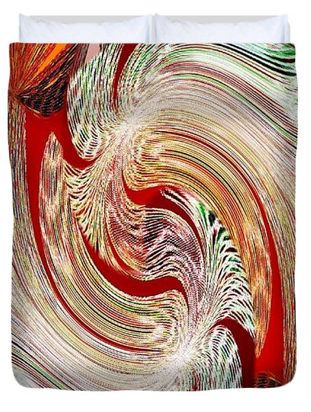 Abstract Fusion 148 Duvet Cover by Will Borden