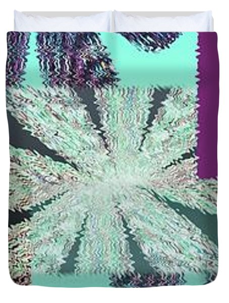 Abstract Fusion 149 Duvet Cover by Will Borden