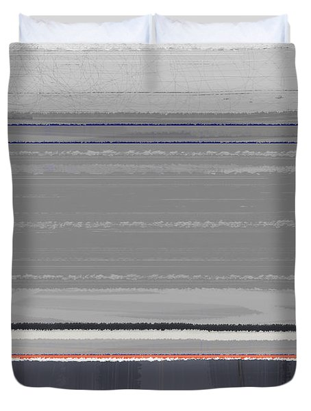 Abstract Grey Duvet Cover by Naxart Studio