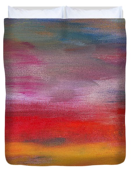 Abstract - Guash and Acrylic - Pleasant Dreams Duvet Cover by Mike Savad