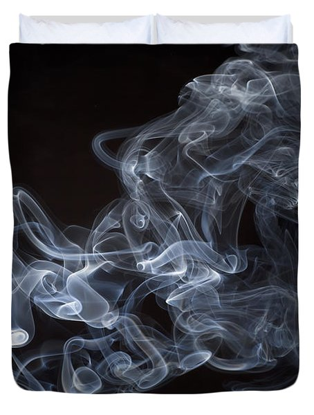 Abstract Smoke Running Horse Duvet Cover by Setsiri Silapasuwanchai