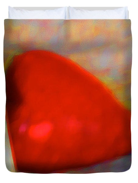 Duvet Cover featuring the digital art Abundant Love by Richard Laeton