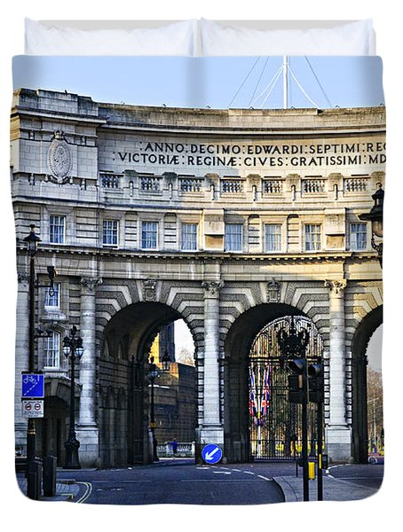 Admiralty Arch In Westminster London Duvet Cover by Elena Elisseeva