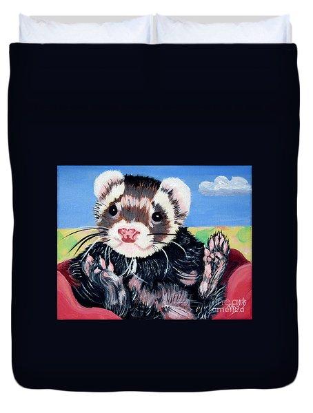 Adorable Ferret Duvet Cover by Phyllis Kaltenbach