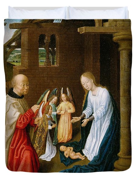 Adoration Of The Christ Child  Duvet Cover by Master of San Ildefonso