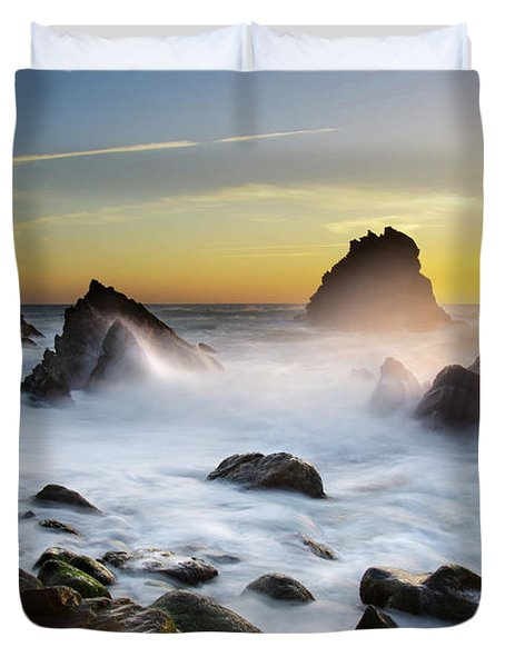 Adraga Beach Duvet Cover by Carlos Caetano