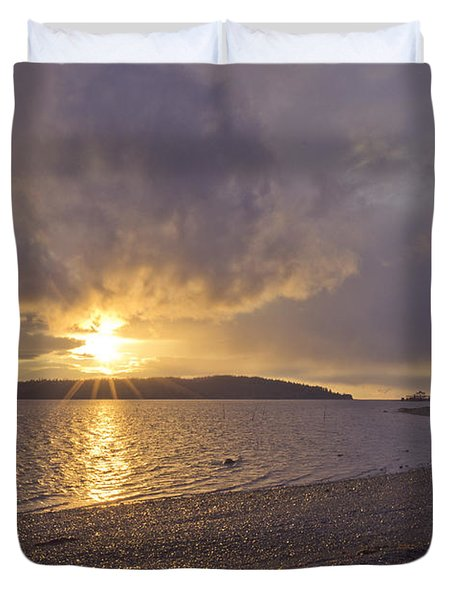 After The Storm Duvet Cover by Priya Ghose