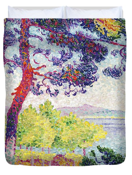 Afternoon At Pardigon Duvet Cover by Henri-Edmond Cross