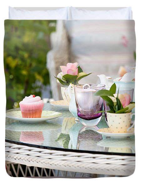 Afternoon Tea And Cakes Duvet Cover by Simon Bratt Photography LRPS