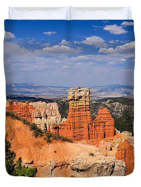 Agua Canyon Bryce Canyon National Park Duvet Cover by Greg Norrell