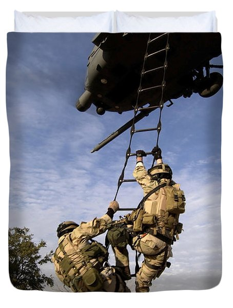 Air Force Pararescuemen Are Extracted Duvet Cover by Stocktrek Images