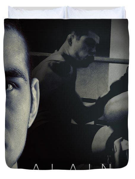 Alain Hernandez Mixed Martial Artist Duvet Cover by Lisa Knechtel