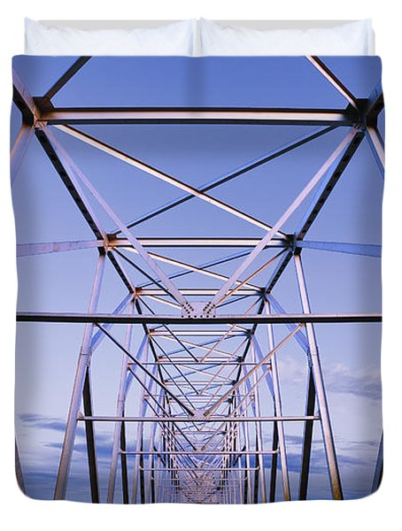 Alaska Native Veterans Honor Bridge Duvet Cover by Yves Marcoux