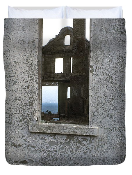 Alcatraz - windows Duvet Cover by Paul W Faust -  Impressions of Light