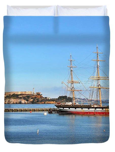 Alcatraz - No escape Duvet Cover by Christine Till