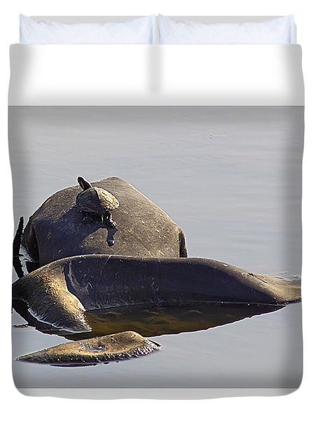 All By Myself Duvet Cover by Brian Wallace