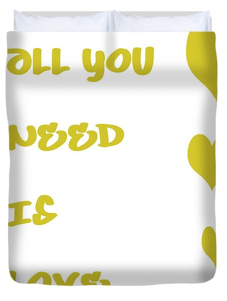 All You Need Is Love - Yellow Duvet Cover by Georgia Fowler