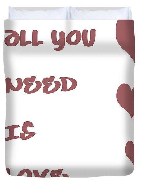 All you Need is Love - Plum Duvet Cover by Nomad Art And  Design