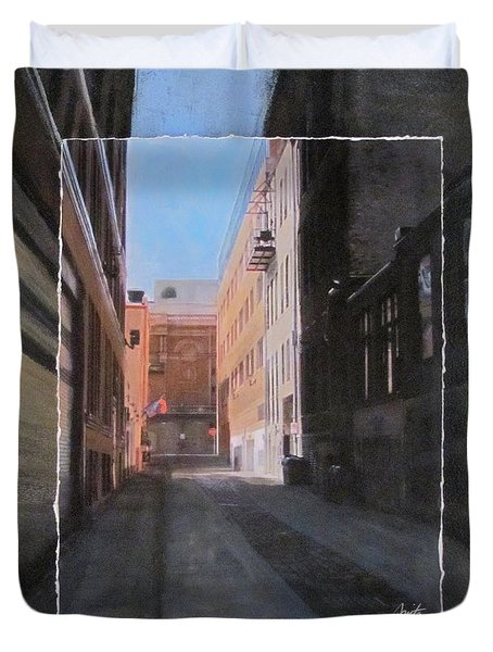 Alley Front Street Layered Duvet Cover by Anita Burgermeister