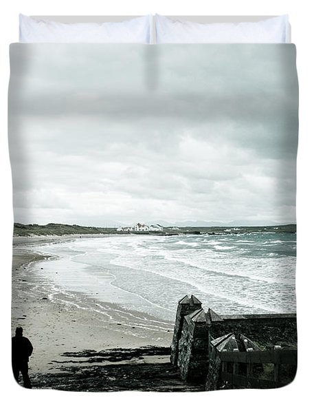 Alone Without You Duvet Cover by Nomad Art And  Design