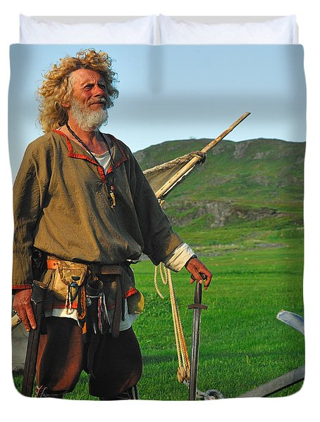 Along The Viking Trail Duvet Cover by Tony Beck