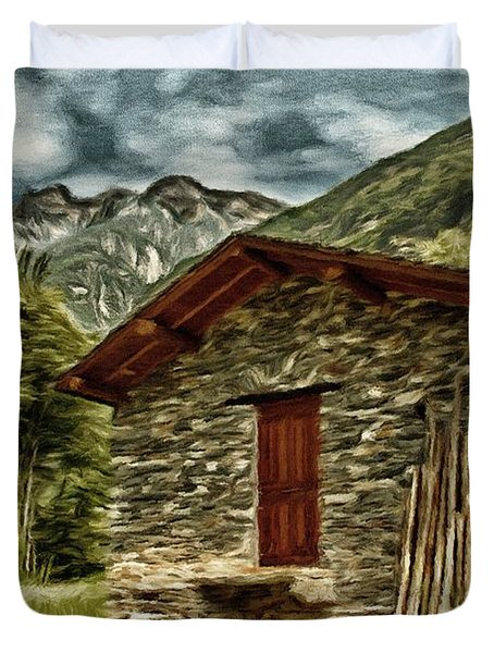 Alpine Ruins Duvet Cover by Jeff Kolker