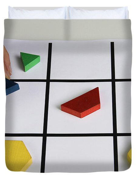 Alzheimers Puzzle Duvet Cover by Photo Researchers, Inc.