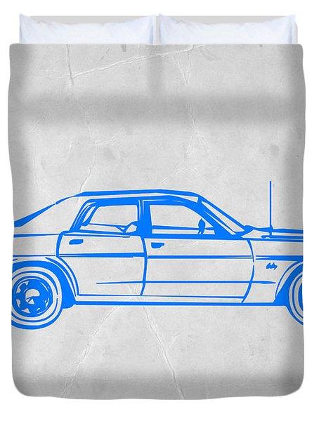 American Car Duvet Cover by Naxart Studio