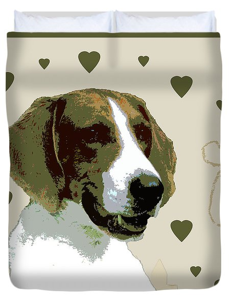 American Fox Hound Duvet Cover by One Rude Dawg Orcutt