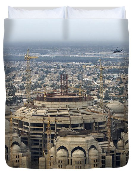 An Aerial View Of Saddam Hussiens Great Duvet Cover by Terry Moore