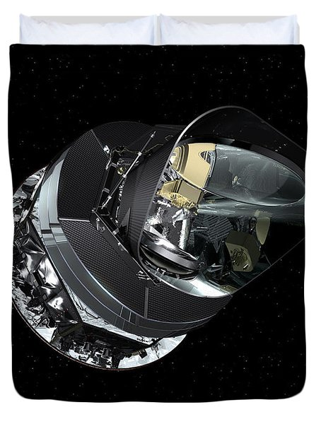 An Artists Concept Of The Planck Duvet Cover by Stocktrek Images