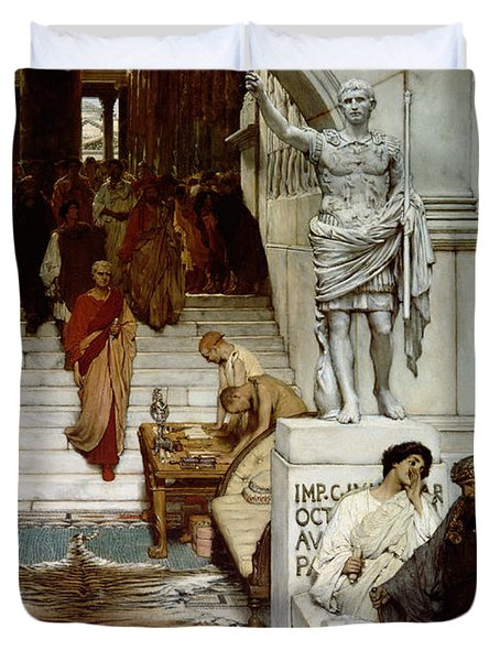 An Audience At Agrippa's Duvet Cover by Sir Lawrence Alma-Tadema