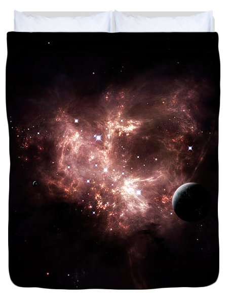 An Emission Nebula Is Viewed From Neaby Duvet Cover by Brian Christensen