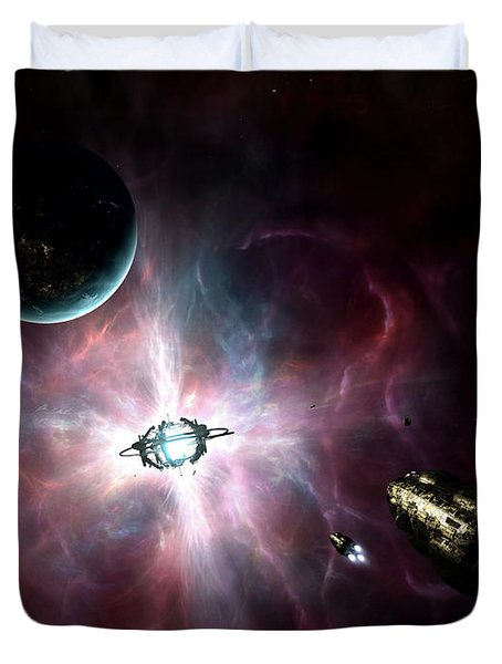 An Enormous Stellar Power Duvet Cover by Brian Christensen