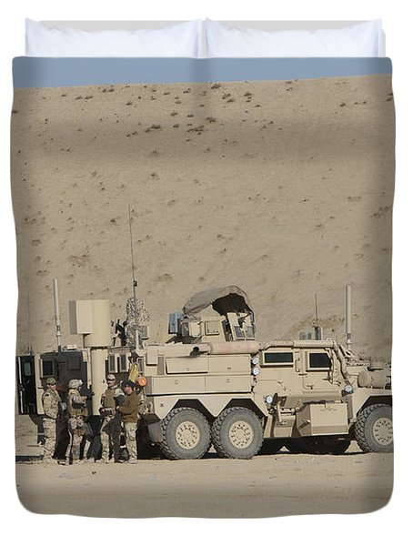 An Eod Cougar Mrap In A Wadi Duvet Cover by Terry Moore