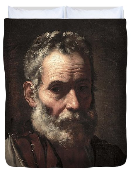An Old Man Duvet Cover by Jusepe de Ribera