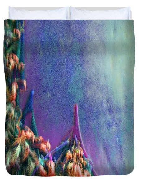 Duvet Cover featuring the digital art Ancesters by Richard Laeton
